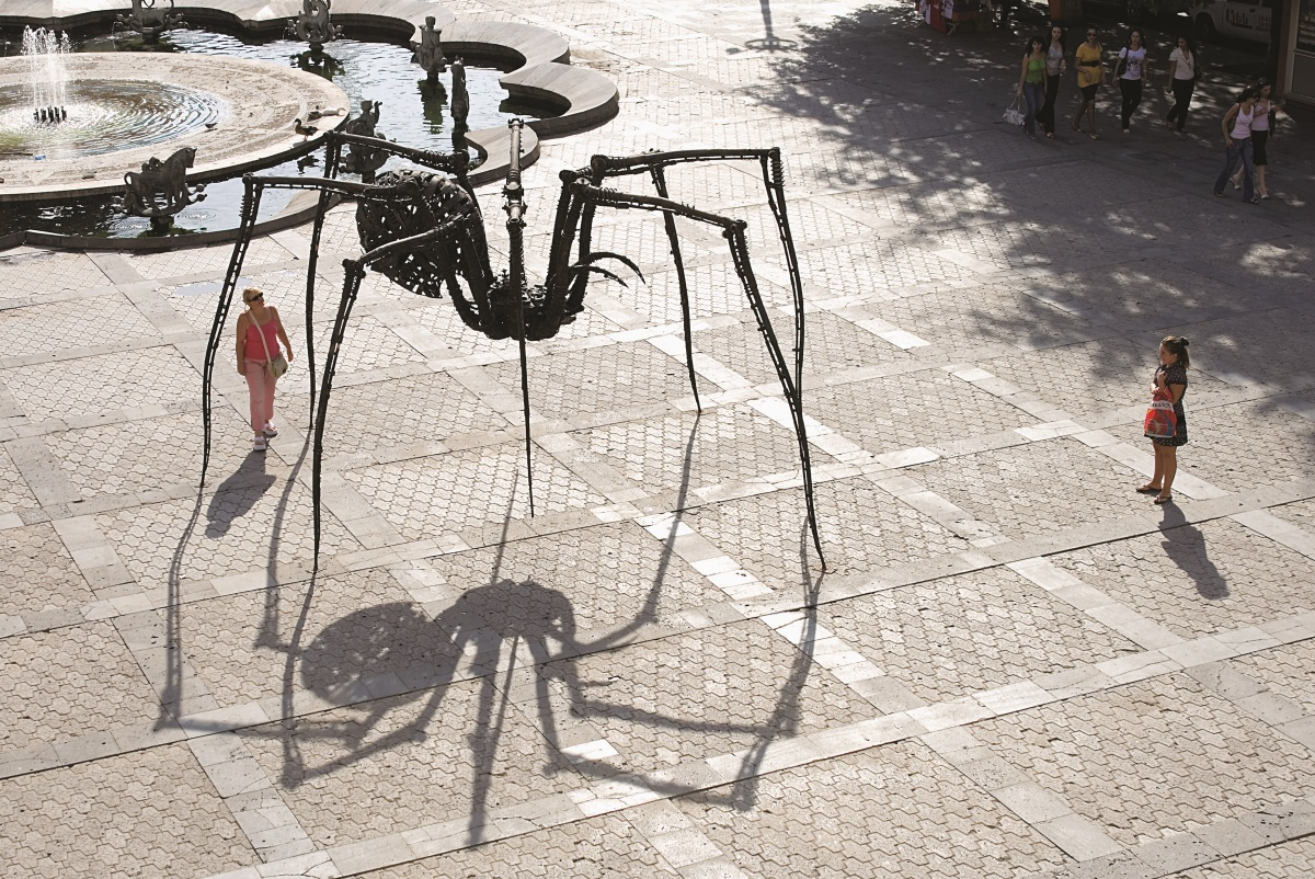 Spider in Moscow Square